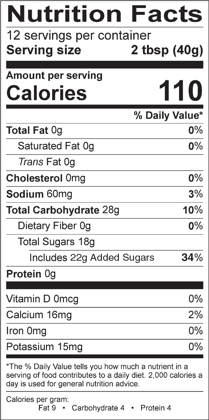 Alert Syrup Nutrition Facts